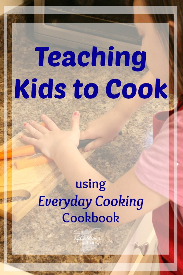 Vickie Bentley Everyday Cooking Cookbook a review and how I use it to teach my kids how to cook at ApronStringsOtherThings.com