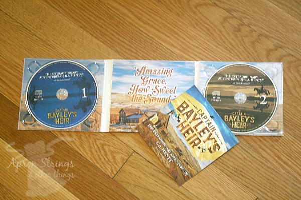 Captain Bayley's Heir Audio CD Set at ApronStringsOtherThings.com