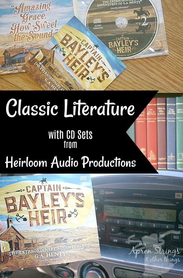 Classic Literature Heirloom Audio Productions Captain Bayley's Heir at ApronSTringsOtherThings.com