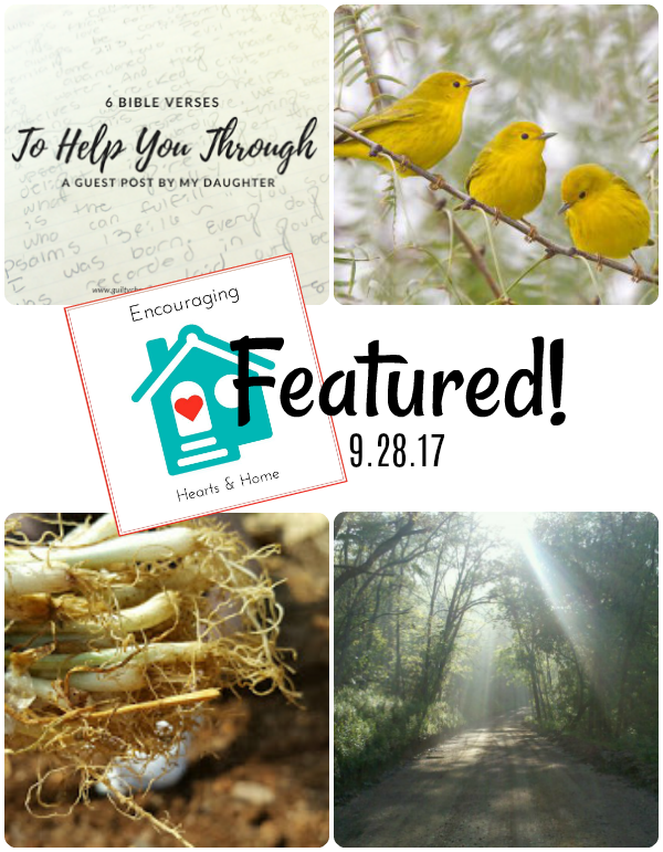 Encouraging Hearts & Home Blog 9.28.17 Featured at ApronStringsOtherThings.com