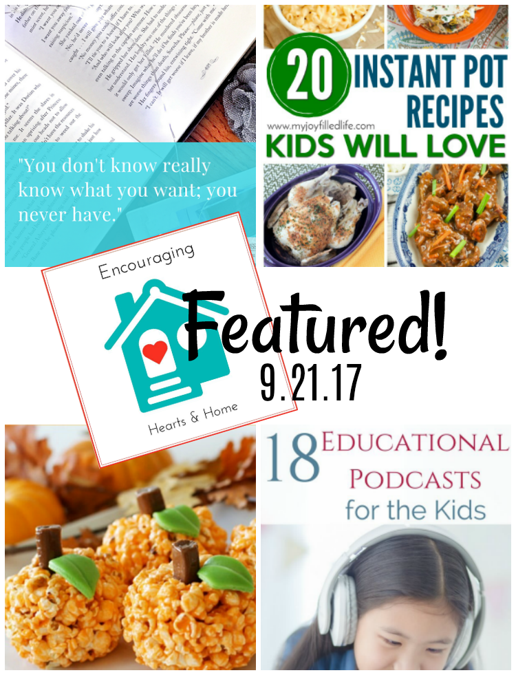Encouraging Hearts & Home Blog Hop 9.21.17 Featured at ApronSTringsOtherThings.com