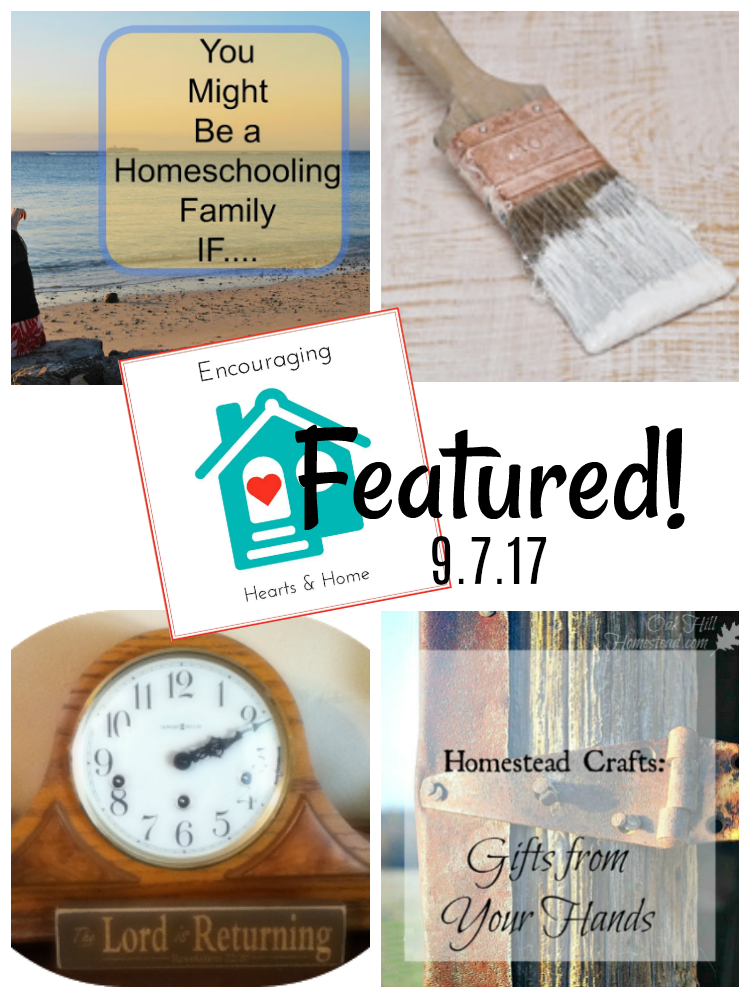 Encouraging Hearts & Home Blog Hop Featured 9.7.17 at ApronStringsOtherThings.com