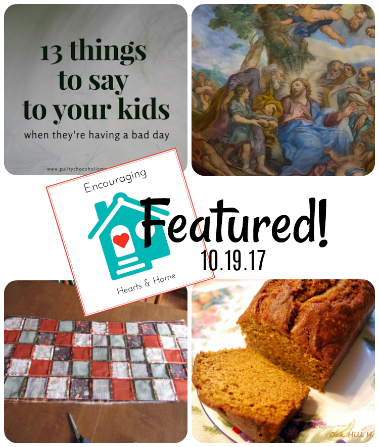 Encouraging Hearts & Home Blog Hop 10.19.17 featured at ApronStringsOtherThings.com