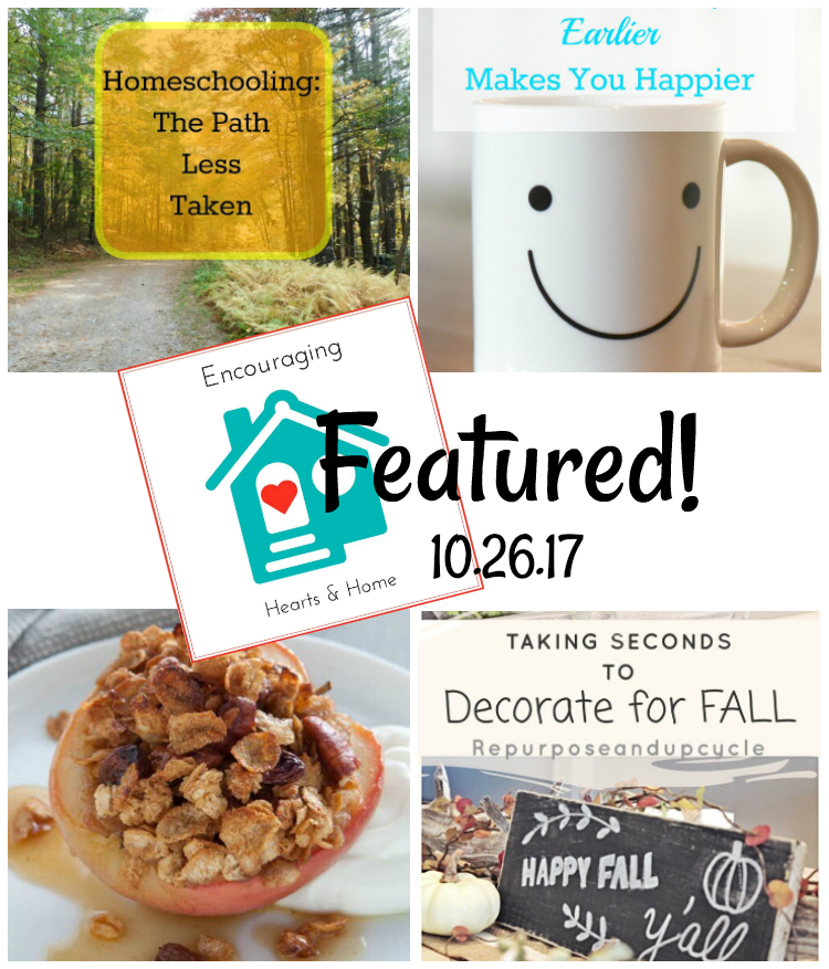 Encouraging Hearts & Home Blog Hop 10.26.17 Featured at ApronSTringsOtherThings.com