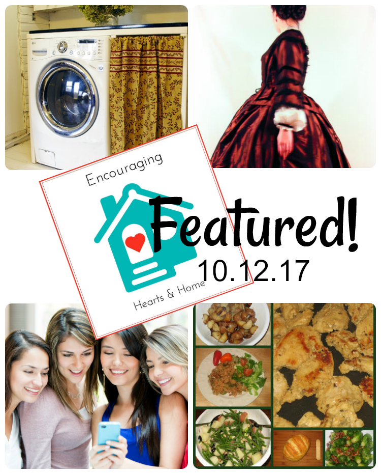 Encouraging Hearts & Home Blog Hop Featured 10.12.17 at ApronStringsOtherThings.com