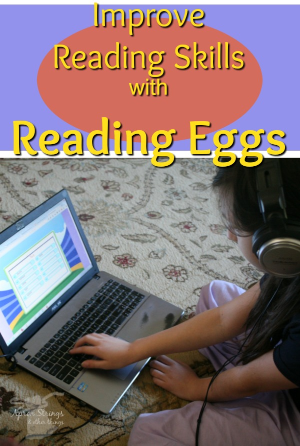 Improve Reading Skills with Reading Eggs at ApronStringsOtherThings.com