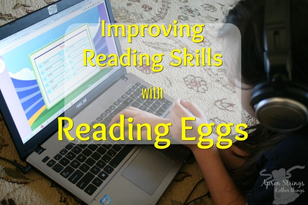 Improving Reading Skills with Reading Eggs at ApronStringsOtherThings.com