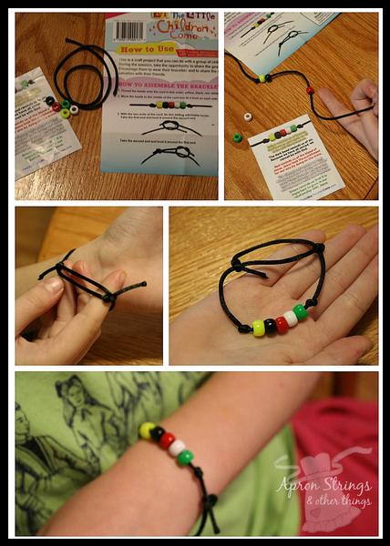 Salvation Bead Bracelet Kit Let the Little Children Come at ApronSTringsOtherThings.com
