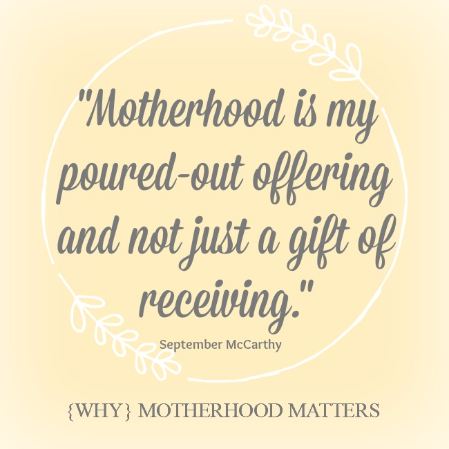{Why} Motherhood Matters – a book review