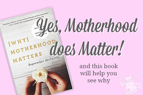 Why Motherhood Matter, a Book Review at ApronStringsOtherThings.com