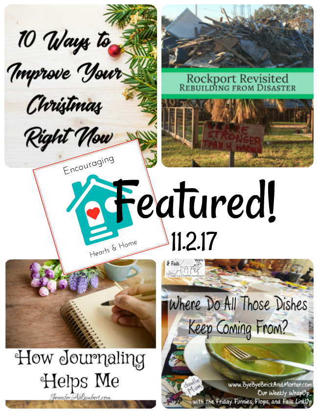Encouraging Hearts & Home Blog Hop 11.2.17 Featured at ApronStringsOtherThings.com