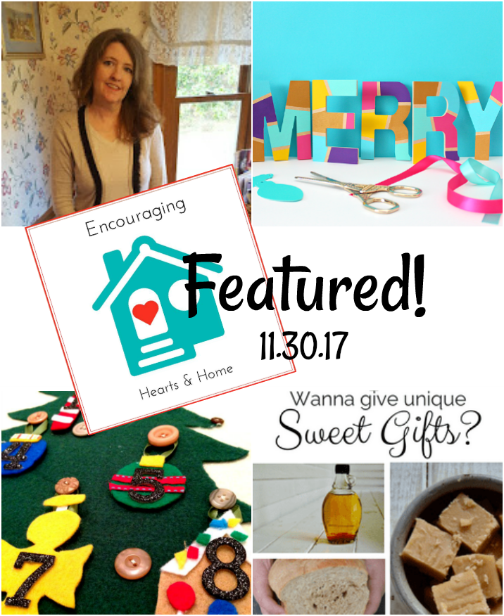 Encouraging Hearts & Home Blog Hop 11.30.17 featured at ApronStringsOtherThings.com