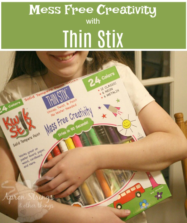 Mess Free Creativity with Thin Stix Creativity Pack A Review at ApronStringsOtherThings.com