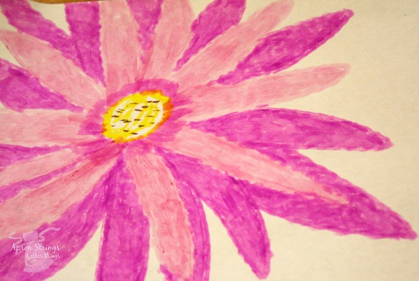 Pink Flower Thin Stix tempera paint at ApronStringsOtherThings.com