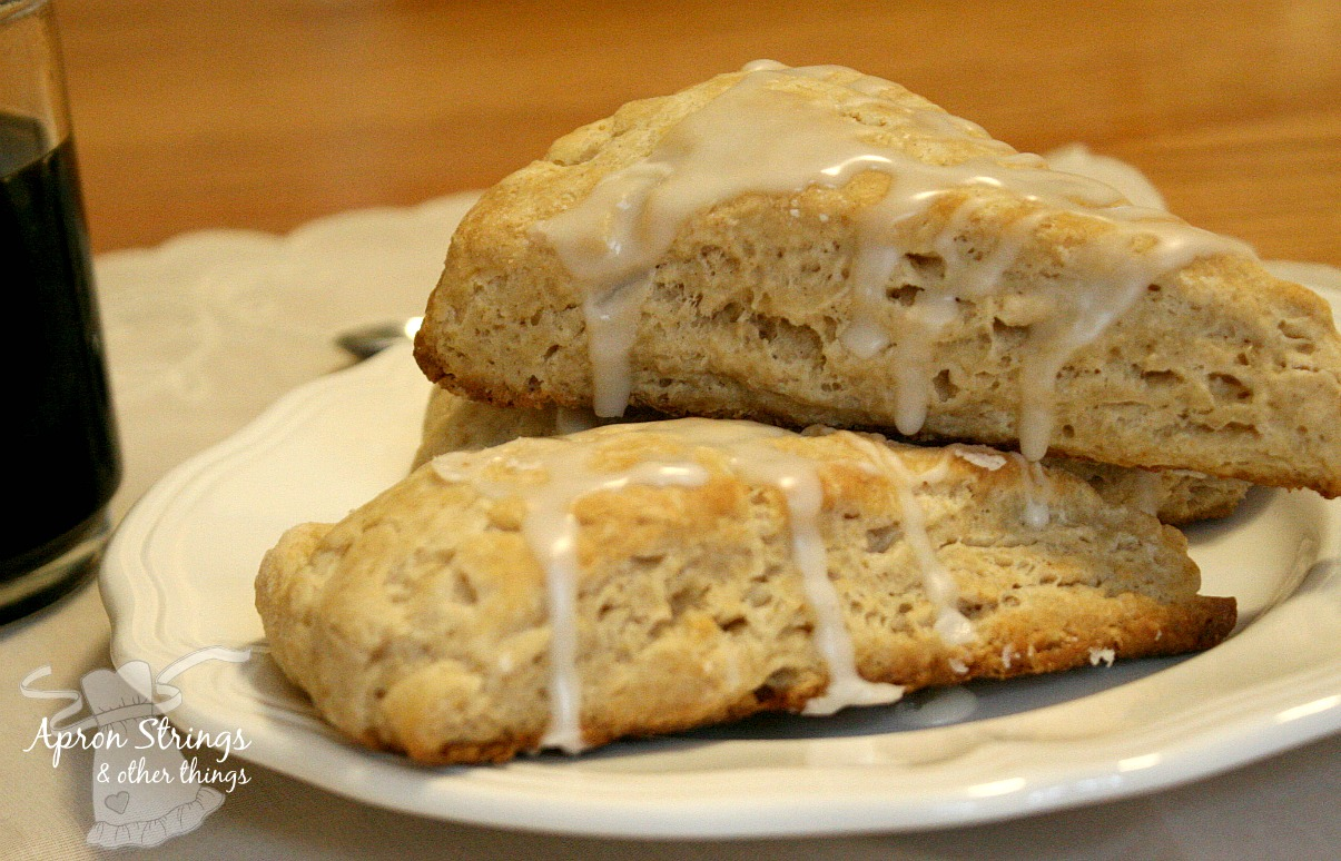 Sweet Maple Scones at ApronStringsOtherThings.com