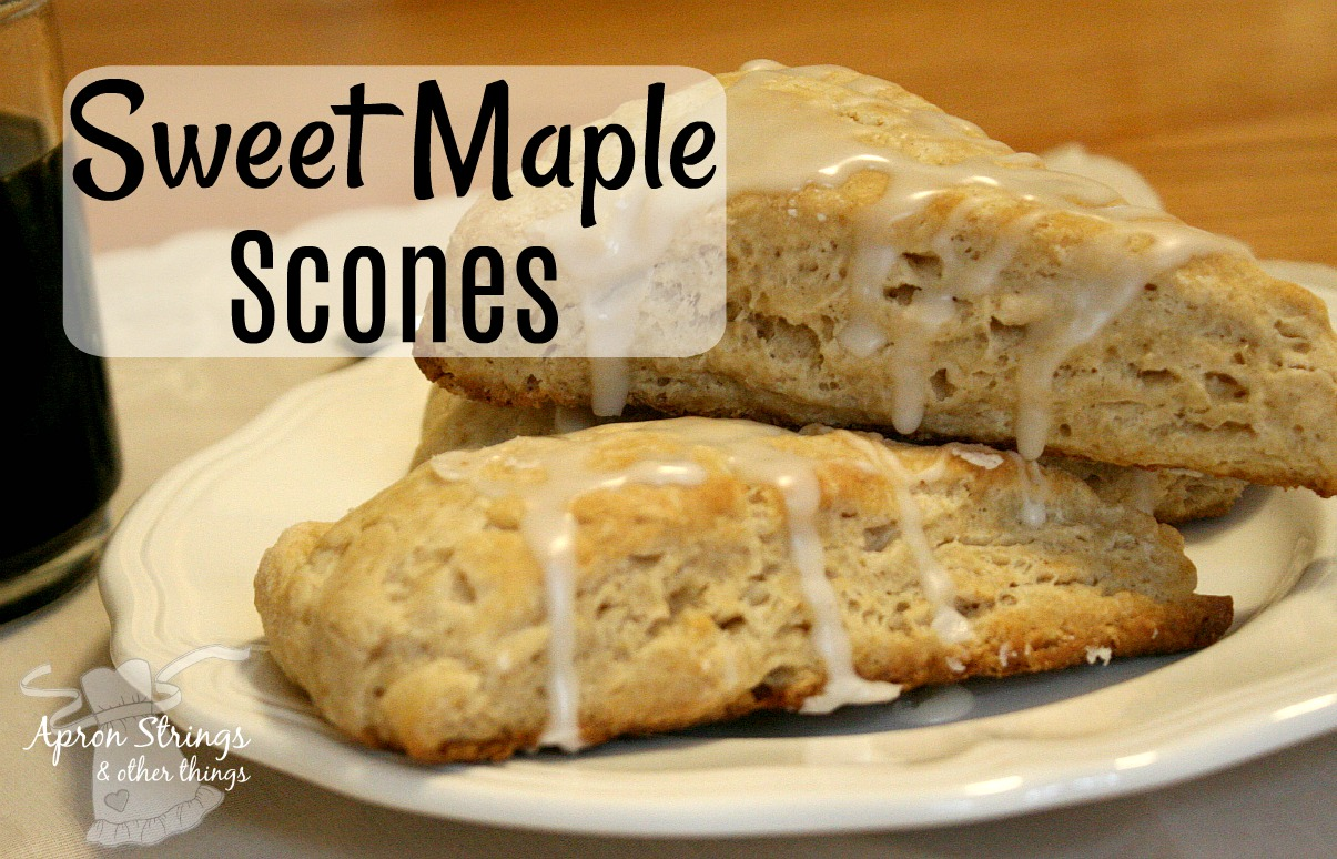 Sweet Maple and The Best Ever Maple Scones at ApronStringsOtherThings.com