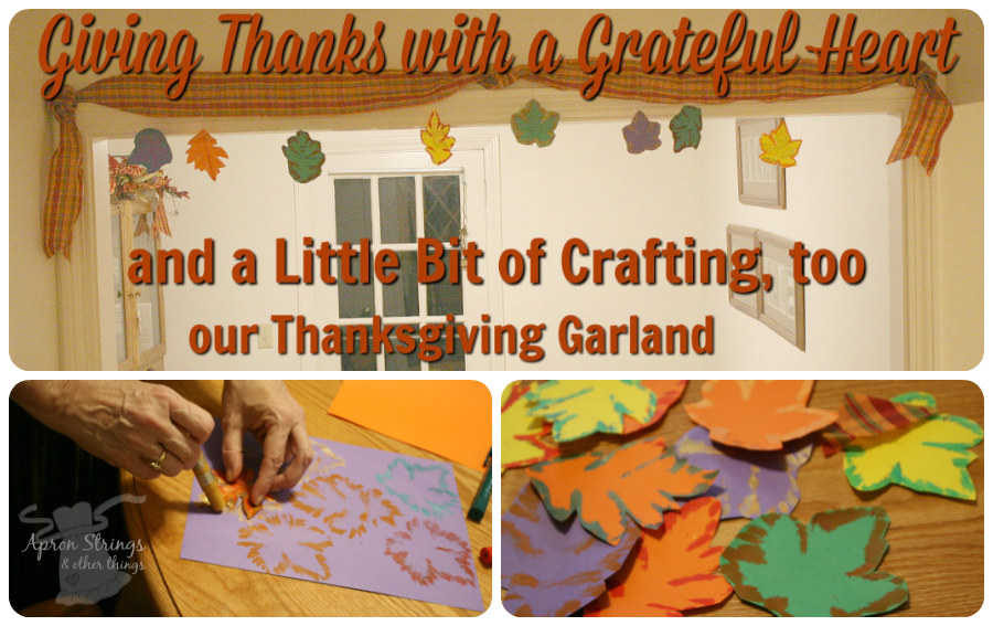 Thanksgiving Garland Autum Leaves Thin Stix at ApronStringsOtherThings.com