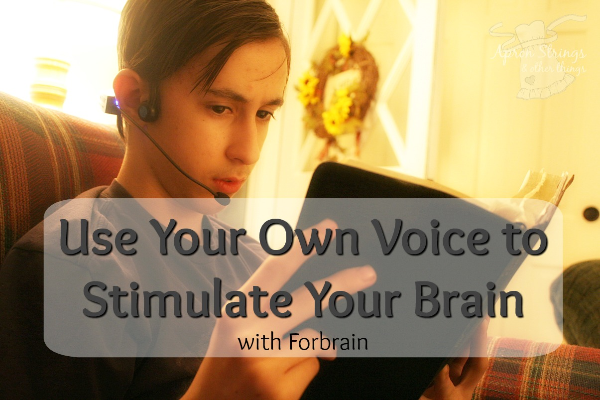 Use Your Voice Stimulate Your Brain with Forbrain from Sound for Life LTD at ApronStringsOtherThings.com A Review