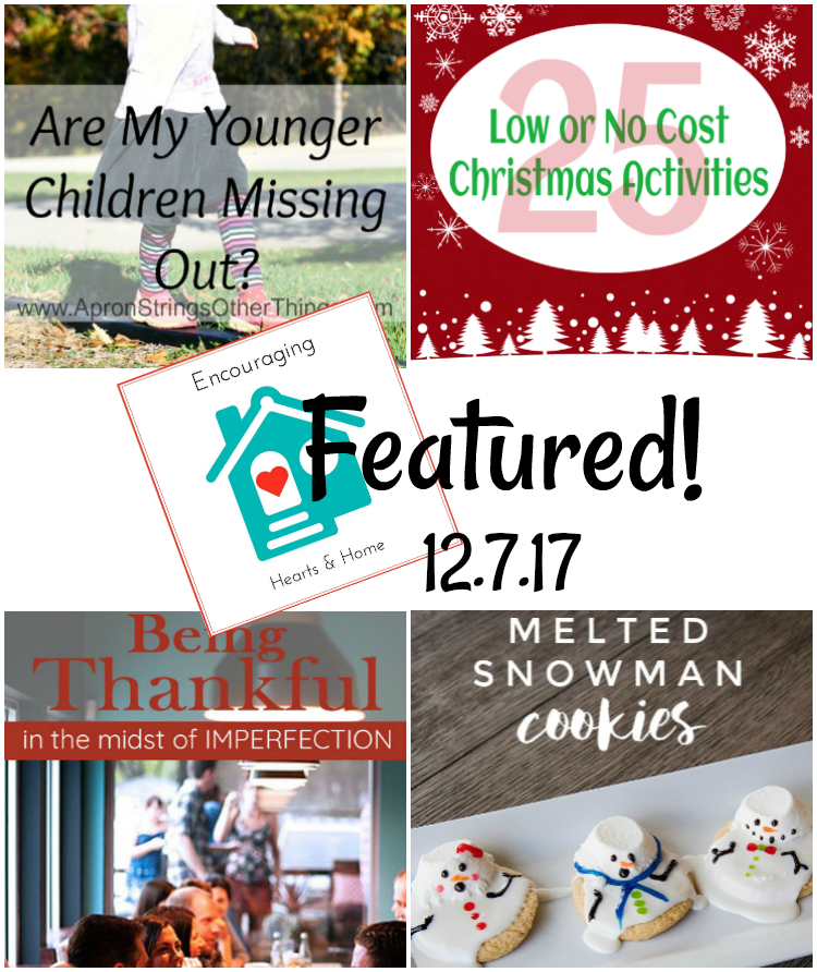 Encouraging Hearts & Home Blog Hop 12.7.17 Featured at ApronStringsOtherThings.com