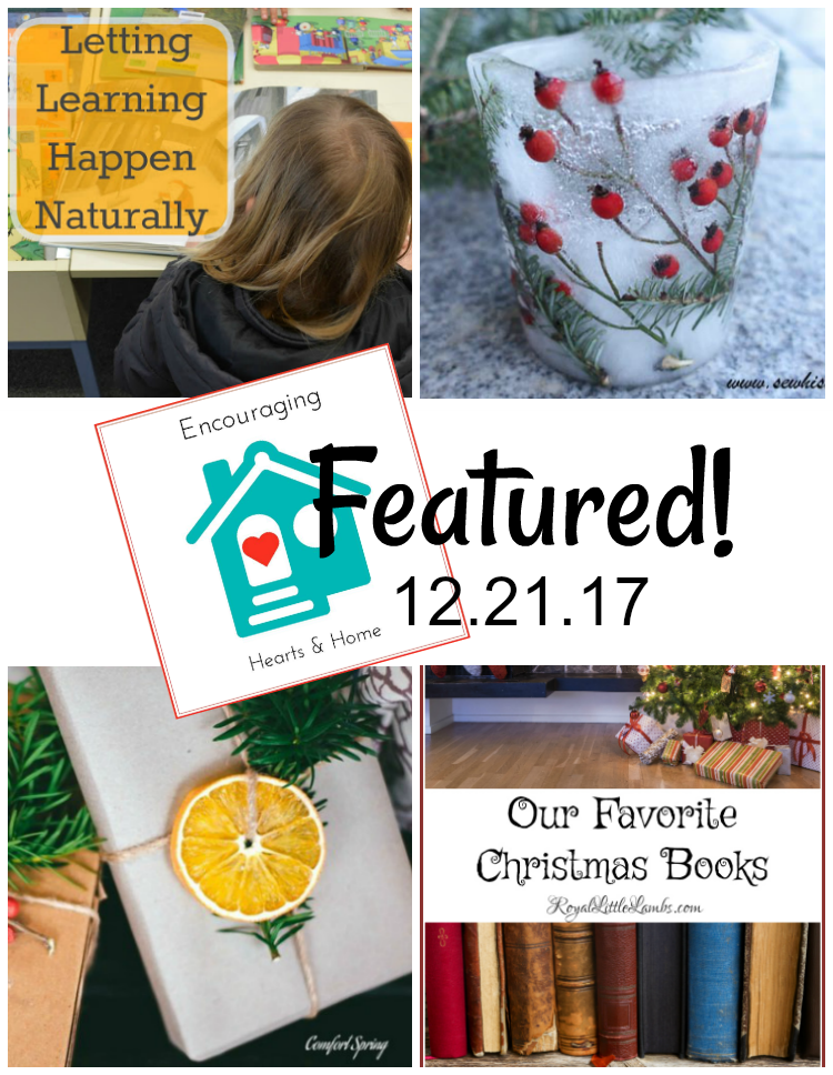 Encouraging Hearts & Home Blog Hop Featured 12.21.17 at ApronStringsOtherThings.com