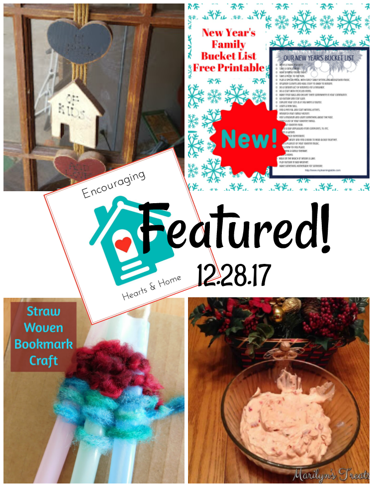 Encouraging Hearts & Home Blog Hop Featured 12.28.17 at ApronStringsOtherThings.com