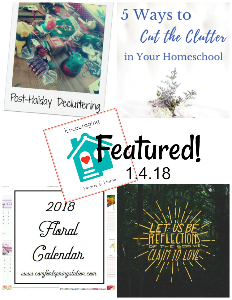 Encouraging Hearts & Home Blog Hop 1.4.18 Featured at ApronStringsOtherThings.com