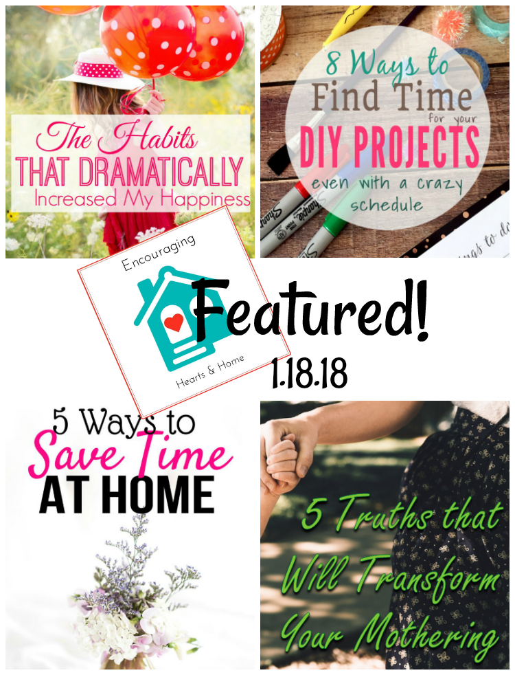 Encouraging Hearts & Home Blog Hop Featured 1.18.18 at ApronStringsOtherThings.com
