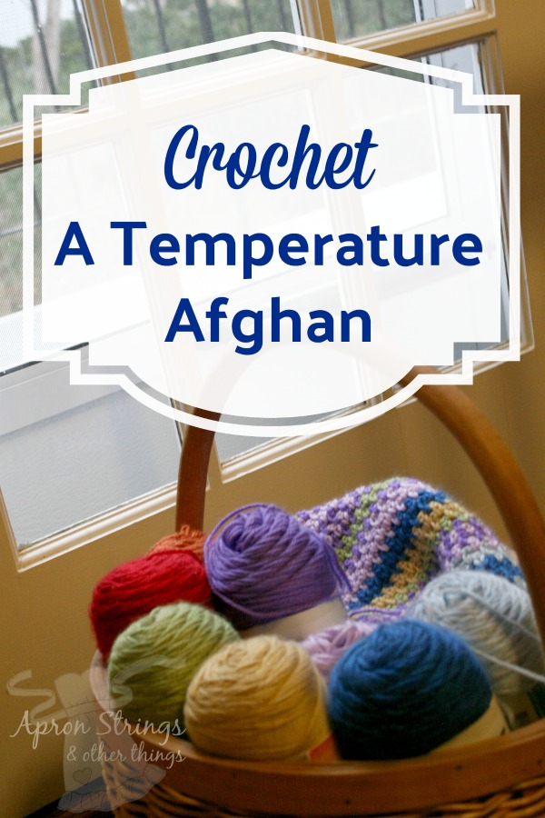 Crochet or Knit your own Temperature Afghan at ApronStringsOtherThings.com