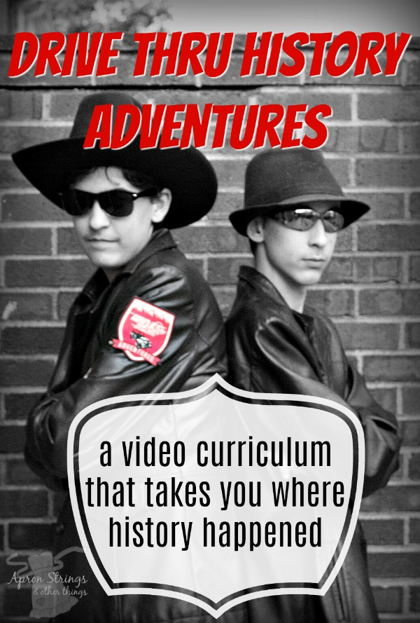 Drive Thru History Adventures a video curriculum that takes you where history happened review at ApronStringsOtherThings.com