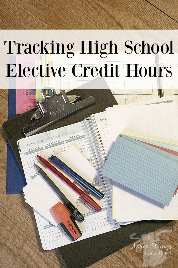 How to Track High School Electives Credits using Index Cards at ApronStringsOtherThings.com