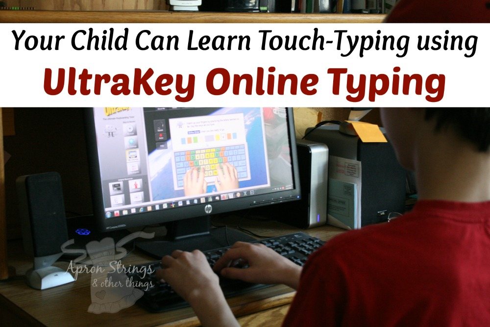 Teach Keyboarding with UltraKey Online Typing at ApronStringsOtherThings.com