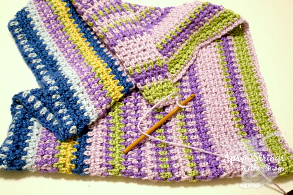 Temperature Afghan 2018 at ApronStringsOtherThings.com