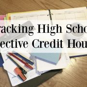 Tracking High School Elective Credit Hours