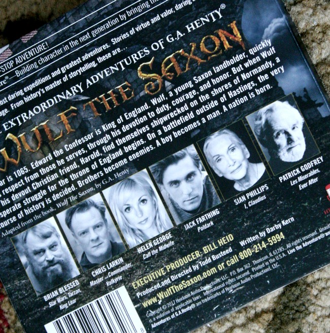 Wulf the Saxon voice cast Heirloom Audio Productions at ApronStringsOtherThings.com