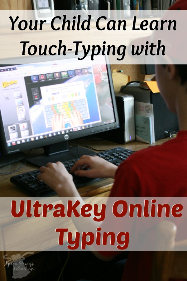 Your Child Can Learn Touch-Typing using UltraKey Online Typing Bytes of Learning at ApronStringsOtherThings.com