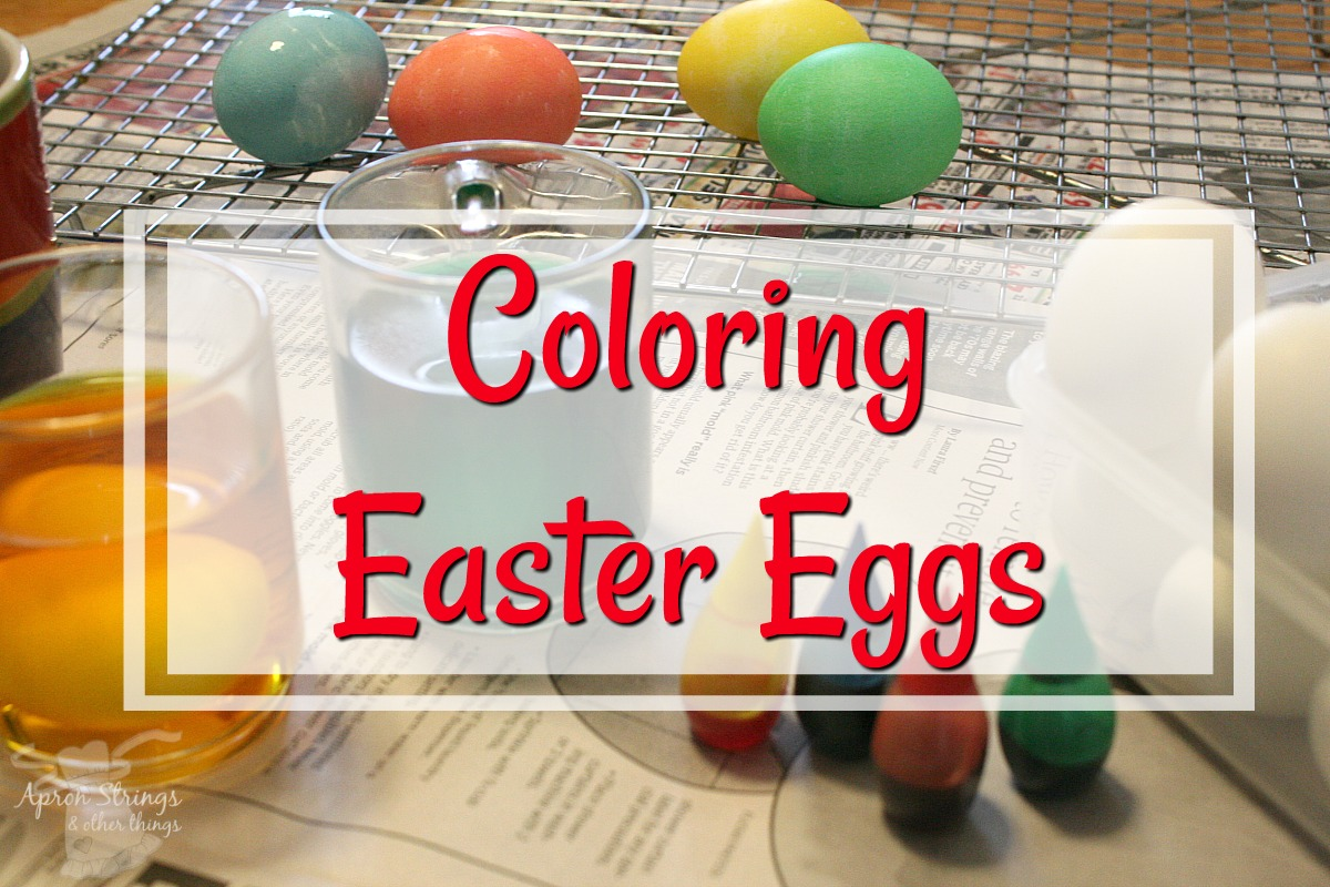 Coloring Easter Eggs with homemade dye recipe at ApronSTringsOtherthings.com