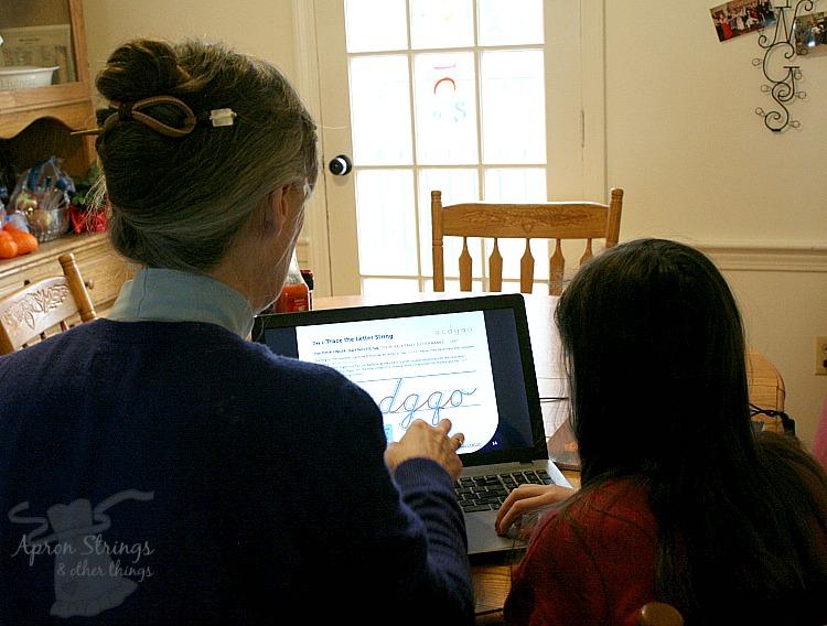 CursiveLogic webinar homeschool handwriting lessons at ApronStringsOtherThings.com