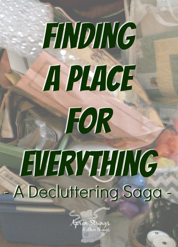 Decluttering and Finding a Place for Everything at ApronStringsOtherThings.com