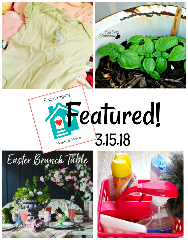 Encouraging Hearts & Home Blog Hop 3.15.18 Featured at ApronStringsOtherThings.com