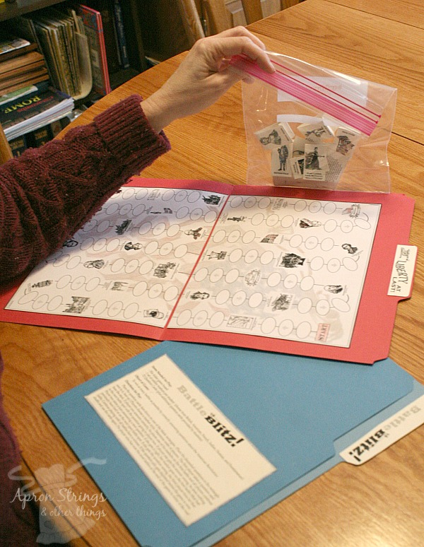 Home School in the Woods File Folder Games at ApronStringsOtherThings.com