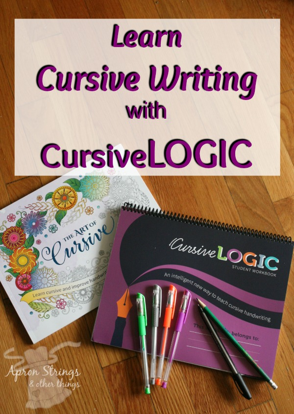 Learn Cursive Writing with CursiveLogic at ApronStringsOtherThings