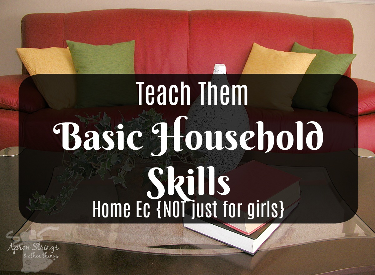 5 Days of Home Ec NOT Just for Girls Teach Basic Household Skills at ApronSTringsOtherThings.com