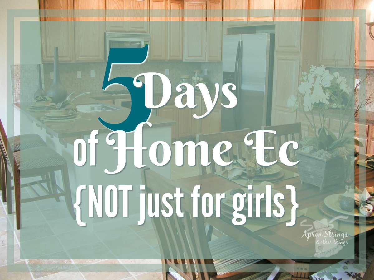 5 Days of Home Ec NOT just for girls at ApronStringsOtherThings.com