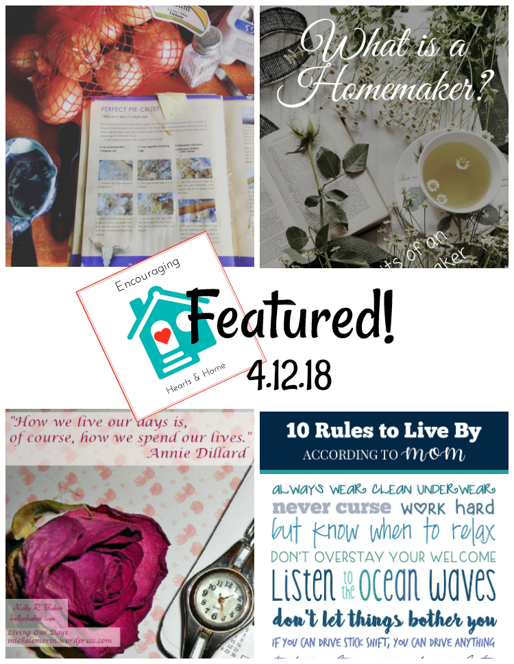 Encouraging Hearts & Home Blog Hop 4.12.18