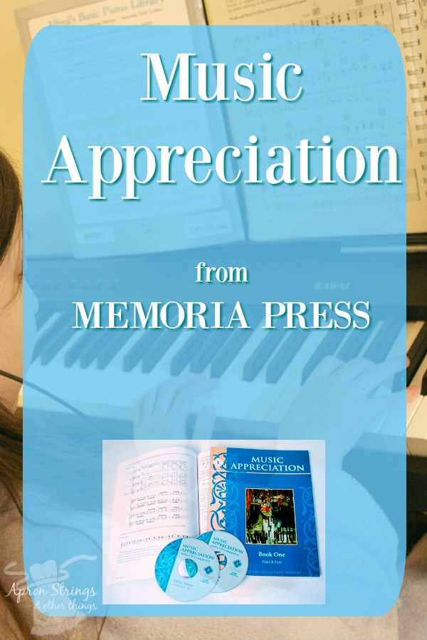 Music Appreciation for your homeschool with Memoria Press at ApronSTringsOtherThings.com