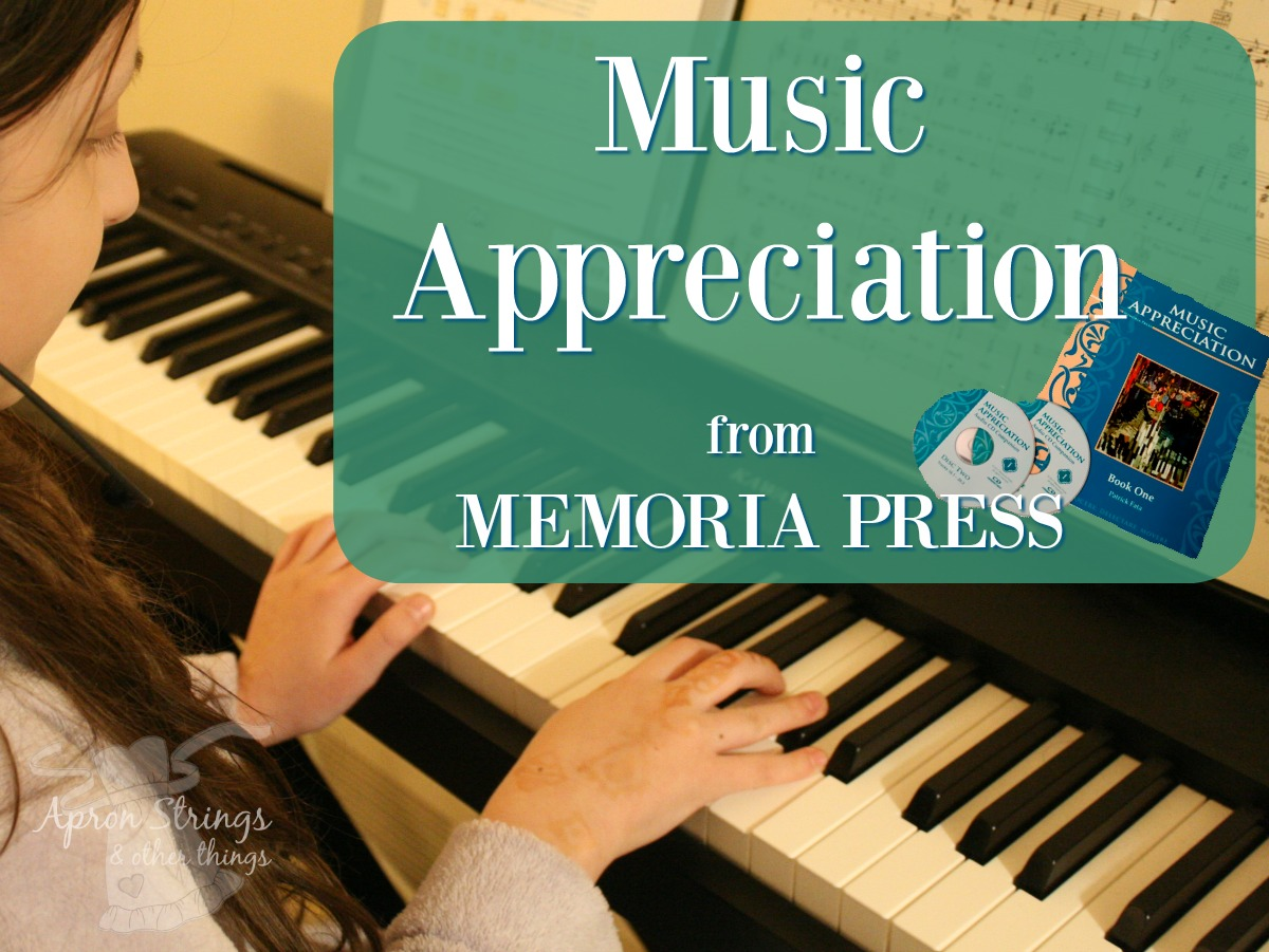 Music Appreciation from Memoria Press at ApronStringsOtherThings