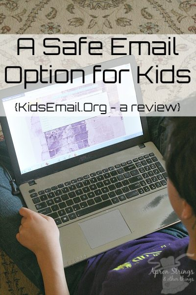 A Safe Email Option for Your Children {Kids Email Review} at ApronStringsOtherThings.com