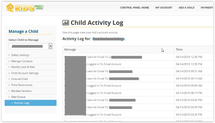 Activity Log for Kids Email at ApronStringsOtherThings.com