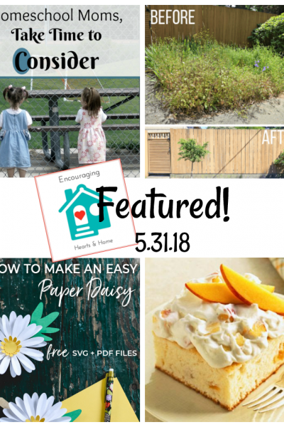 Encouraging Hearts & Home Blog Hop Featured 5.31.18 at ApronStringsOtherThings.com