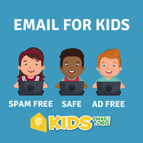 KidsEmail safe email for kids at ApronStringsOtherThings.com